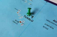 Mapa de Tuvalu Fotografía de archivo libre de regalías