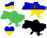 Mapa de Ucrânia Fotografia de Stock