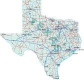 Mapa de um estado a outro de Texas Fotografia de Stock Royalty Free