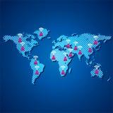 Mapa de uma comunicação dos povos Imagem de Stock Royalty Free