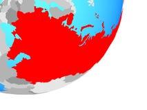 Mapa de Unión Soviética en el globo libre illustration