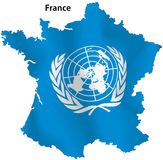 Mapa de United Nations de France Imagem de Stock Royalty Free