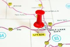 Mapa de Utá EUA Fotos de Stock Royalty Free