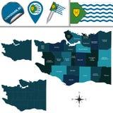 Mapa de Vancôver com vizinhanças Foto de Stock Royalty Free