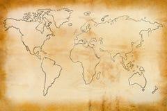 Mapa de Velho Mundo Fotos de Stock