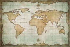 Mapa de Velho Mundo ilustração stock