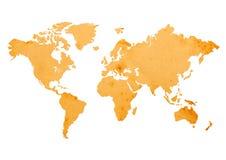 Mapa de Velho Mundo Foto de Stock
