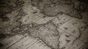 Mapa de Velho Mundo envelhecido video estoque