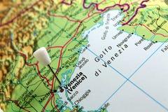 Mapa de Veneza Imagens de Stock Royalty Free