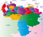 Mapa de Venezuela Imagem de Stock Royalty Free