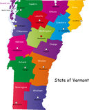 Mapa de Vermont Fotos de Stock Royalty Free