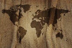 Mapa de Viejo Mundo. Fotos de archivo