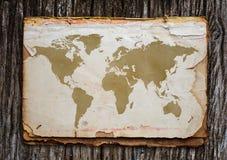 Mapa de Viejo Mundo. Imagen de archivo