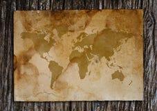 Mapa de Viejo Mundo. Imágenes de archivo libres de regalías