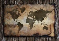 Mapa de Viejo Mundo. Foto de archivo