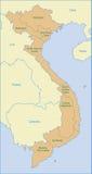 Mapa de Vietnam Imagens de Stock