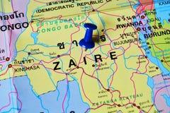 Mapa de Zaire Imagen de archivo libre de regalías
