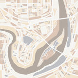 Mapa decorativo da cidade do vetor Fotos de Stock