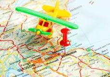 Mapa del aeroplano de Edimburgo Escocia Foto de archivo libre de regalías