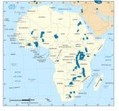 Mapa del africano stock de ilustración