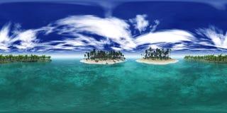 Mapa del ambiente, playa tropical con las palmeras, playa del archipiélago de la isla con las palmeras foto de archivo