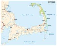 Mapa del bacalao de cabo Imagenes de archivo