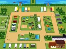 Mapa del camping ilustración del vector