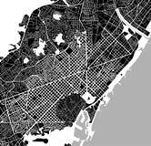 Mapa del centro de ciudad de Barcelona, España Foto de archivo