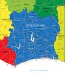 Mapa del d'Ivoire de Cote stock de ilustración