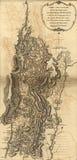 Mapa del ejército de Burgoyne, antes de Saratoga, 1777 Fotos de archivo libres de regalías