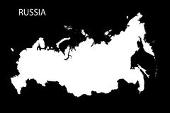 Mapa del ejemplo blanco de la silueta 3D de Rusia Foto de archivo