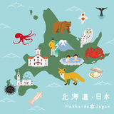 Mapa del ejemplo de Hokkaido
