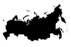 Mapa del ejemplo de la silueta 3D del negro de Rusia Fotografía de archivo