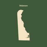 Mapa del esquema de Delaware Ilustración Foto de archivo