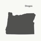 Mapa del esquema de Oregon Ilustración Fotos de archivo