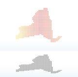 Mapa del Estado de Nueva York de los E.E.U.U. con Dot Pattern Fotos de archivo libres de regalías