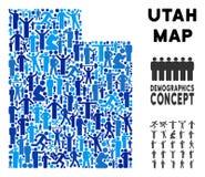 Mapa del estado de Utah del Demographics libre illustration