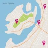 Mapa del extracto de la isla del vector Imagen de archivo libre de regalías