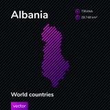 Mapa del extracto del vector de Albania stock de ilustración