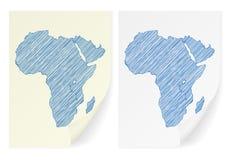Mapa del garabato de África Imagen de archivo
