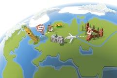 Mapa del globo Imagen de archivo libre de regalías