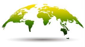 mapa del globo 3D en color verde y amarillo Ilustración del vector stock de ilustración