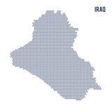 Mapa del hexágono del vector de Iraq en un fondo blanco Foto de archivo