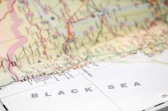 Mapa del Mar Negro Foto de archivo libre de regalías