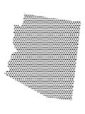 Mapa del modelo punteado del estado de los E.E.U.U. de Arizona stock de ilustración