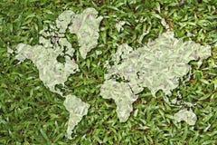 Mapa del mundo Foto de archivo libre de regalías