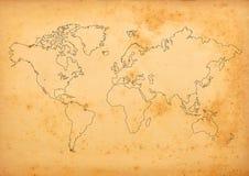 Mapa del mundo Fotografía de archivo