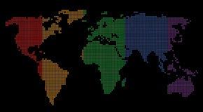 Mapa del mundo ilustración del vector