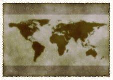 Mapa del mundo foto de archivo