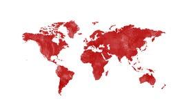 Mapa del mundo Fotografía de archivo libre de regalías